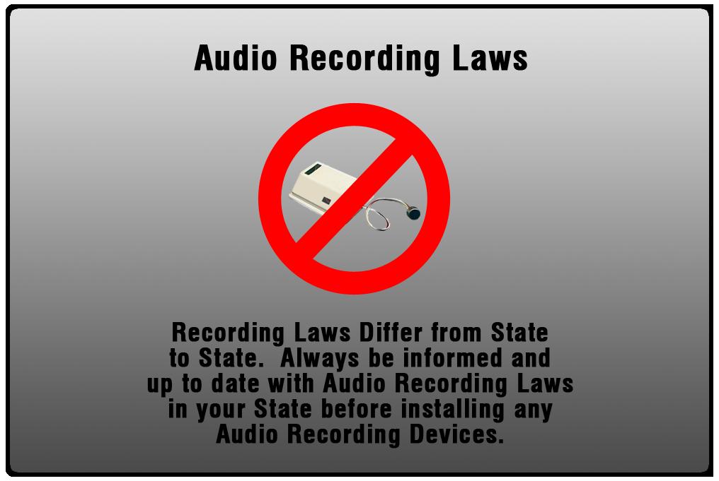 Audio Recording Laws