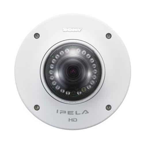 Sony SNCDH160 Network 720p HD Vandal Resistant Minidome Camera with IR Illuminator