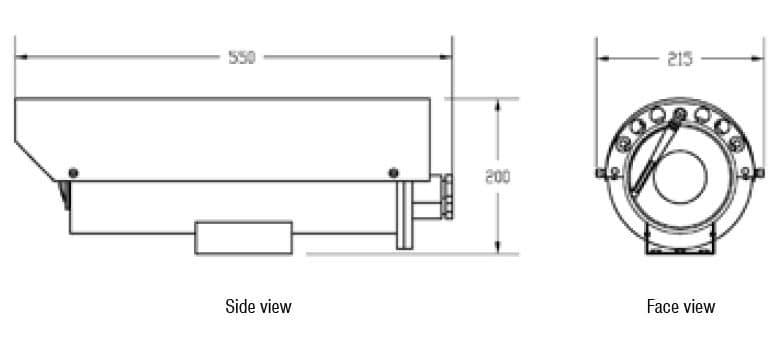 SVEX-T300A Dimensions Schematic
