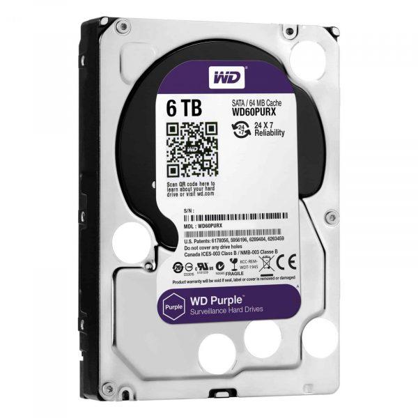 WD Purple Hard drive WD60PURZ-6TB-2