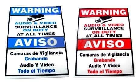 LA06 11x9 Warning Sign