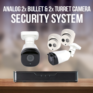 2 Turret and 2 Bullet Surveillance System