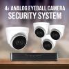 4 Analog Eyeball Camera System with recorder