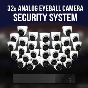 32 Analog Eyeball Camera Security System